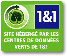 Ce site est hébergé par les centre de données verts de 1&1