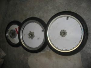 Exemples de roues lenticullaires